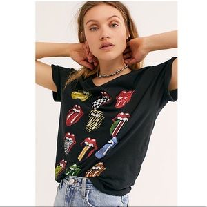 Daydreamer Rolling Stones 12 Tongues Boyfriend Top